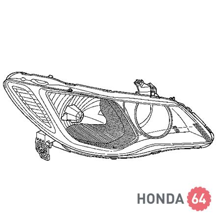 Фара правая ксенон Honda Civic 4D