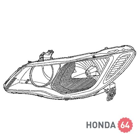 Фара левая Honda Civic 4D